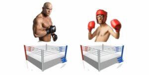 Konkurrenz mit starken und schwachem Wettbewerb